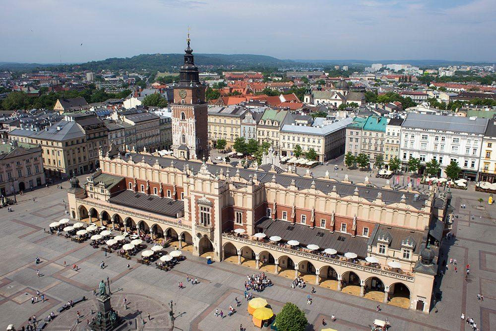 Krakovská tržnice Sukiennice.