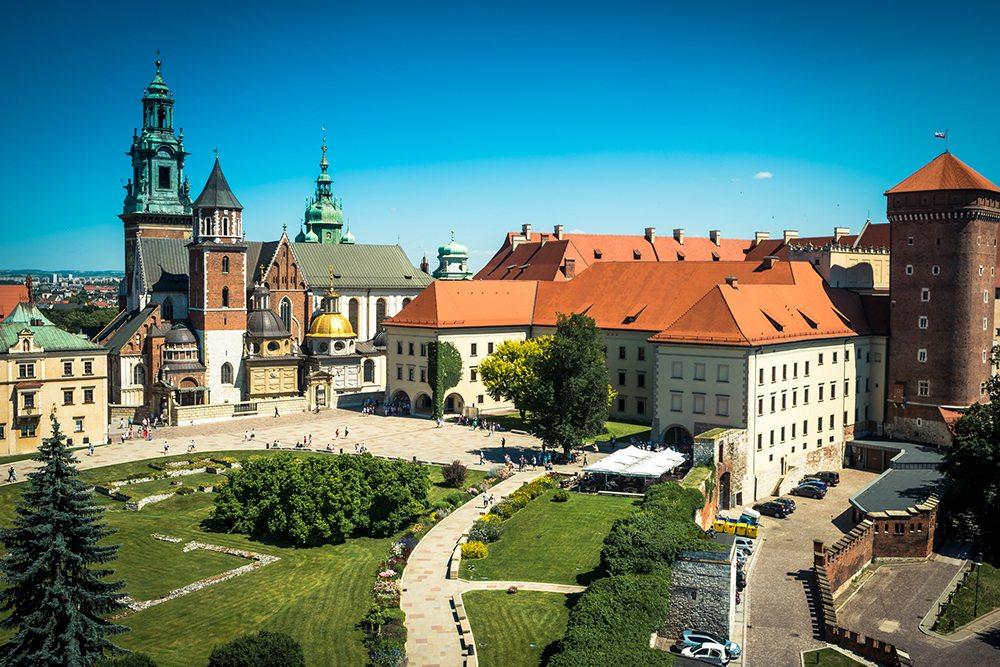 Královský hrad v Krakově.