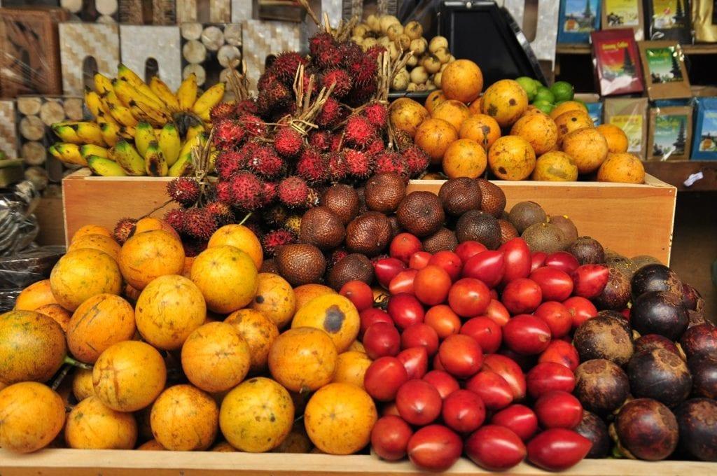 Ovocné tržiště La Boqueria v Barceloně