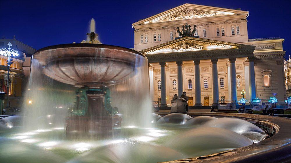 Bolšoj Těatr v Moskvě.