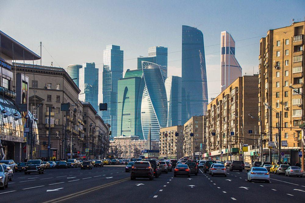 Centrum města v Moskvě.