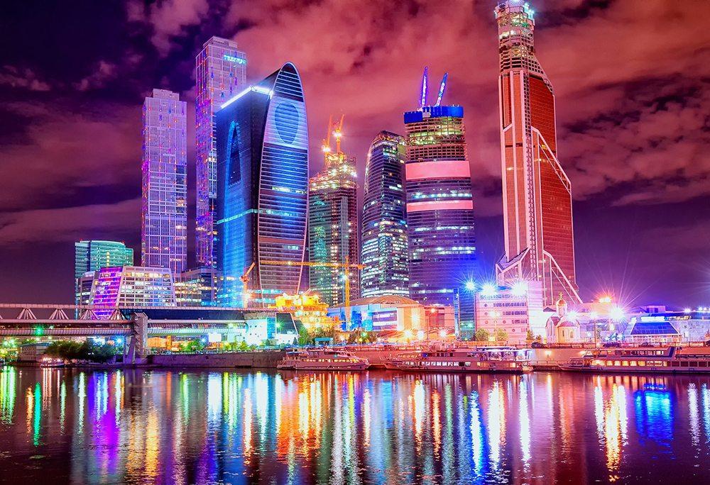 Moderní mrakodrapy v Moskvě