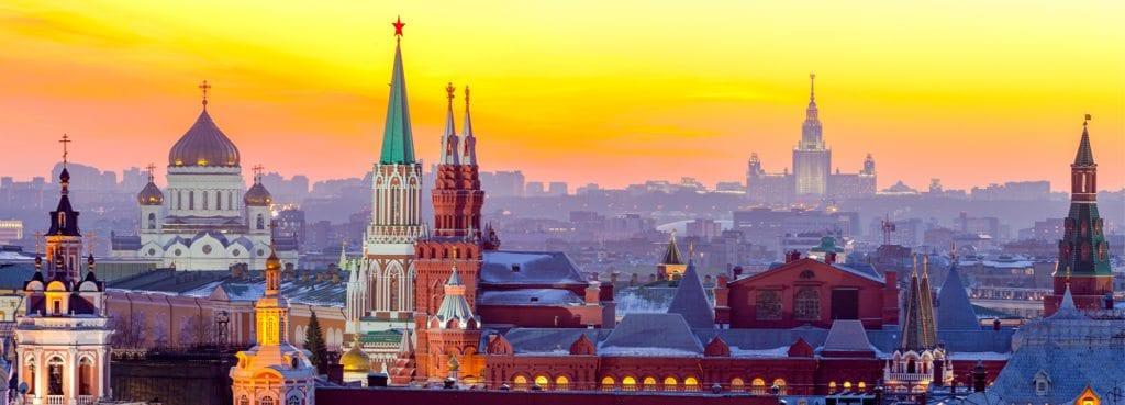 Panorama města Moskva v Rusku