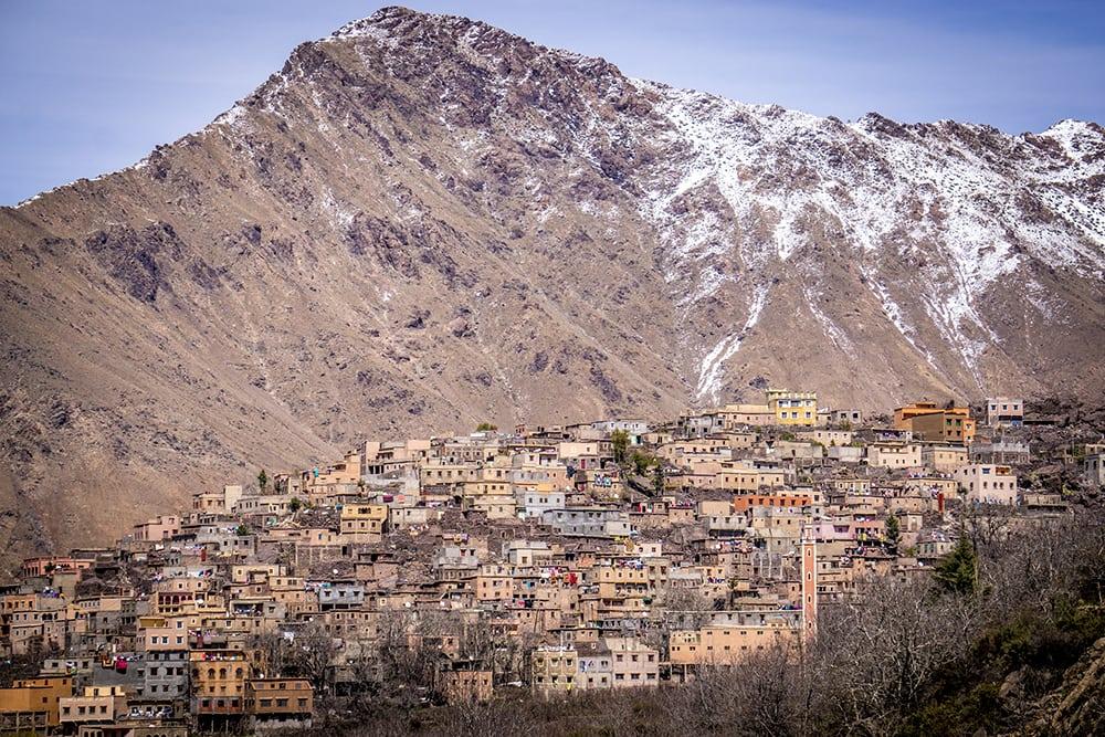 Vesnička Imlil v pohoří Atlas.