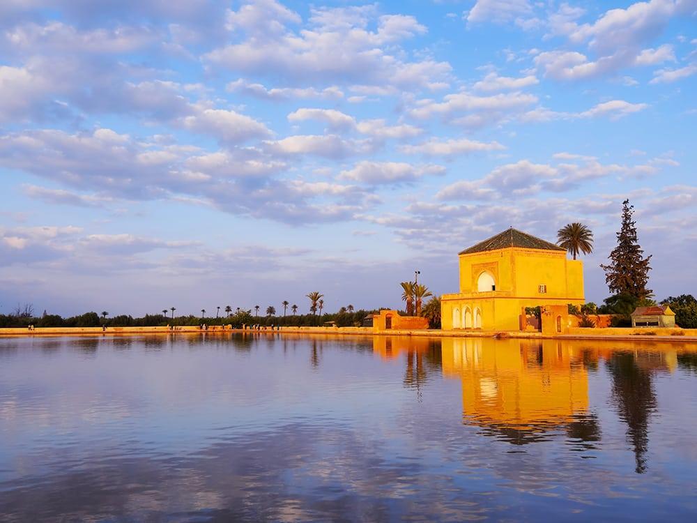 Umělé jezero v zahradách Menara.