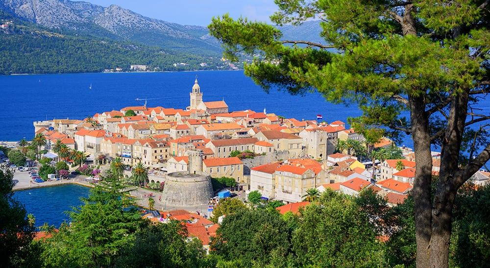 Historická část města Korčula.