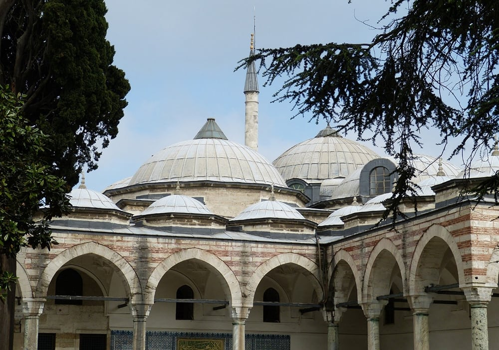 Palác Topkapi v Istanbulu.