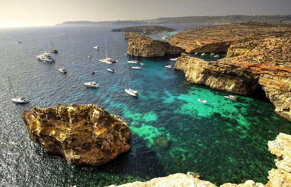 Laguna na Maltě.