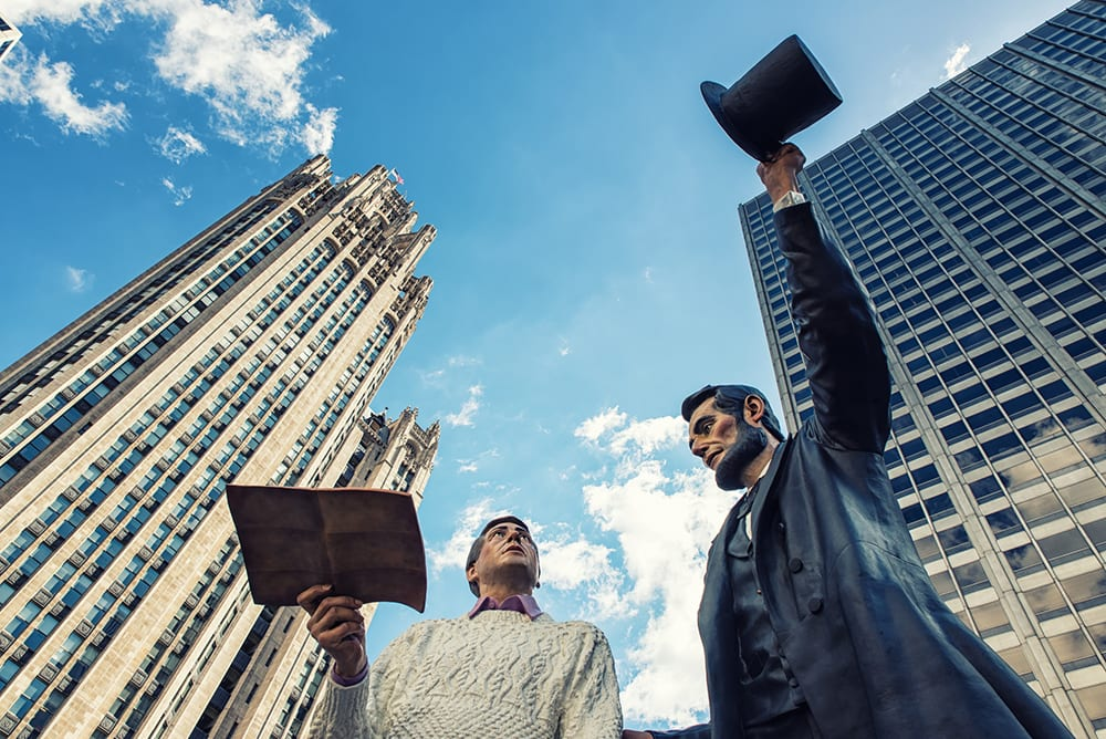 Socha Abrahama Lincolna v Chicagu.