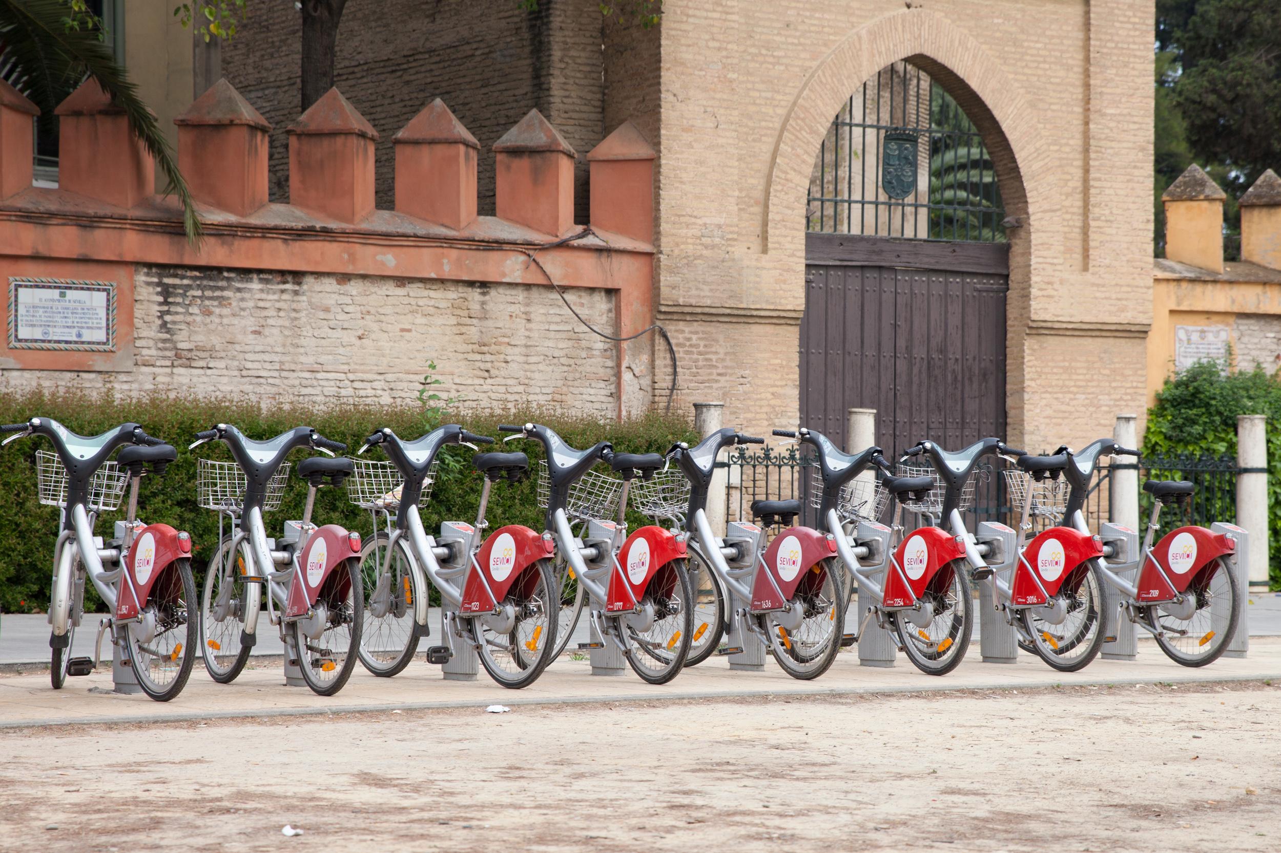 Jízdní kola v Seville.