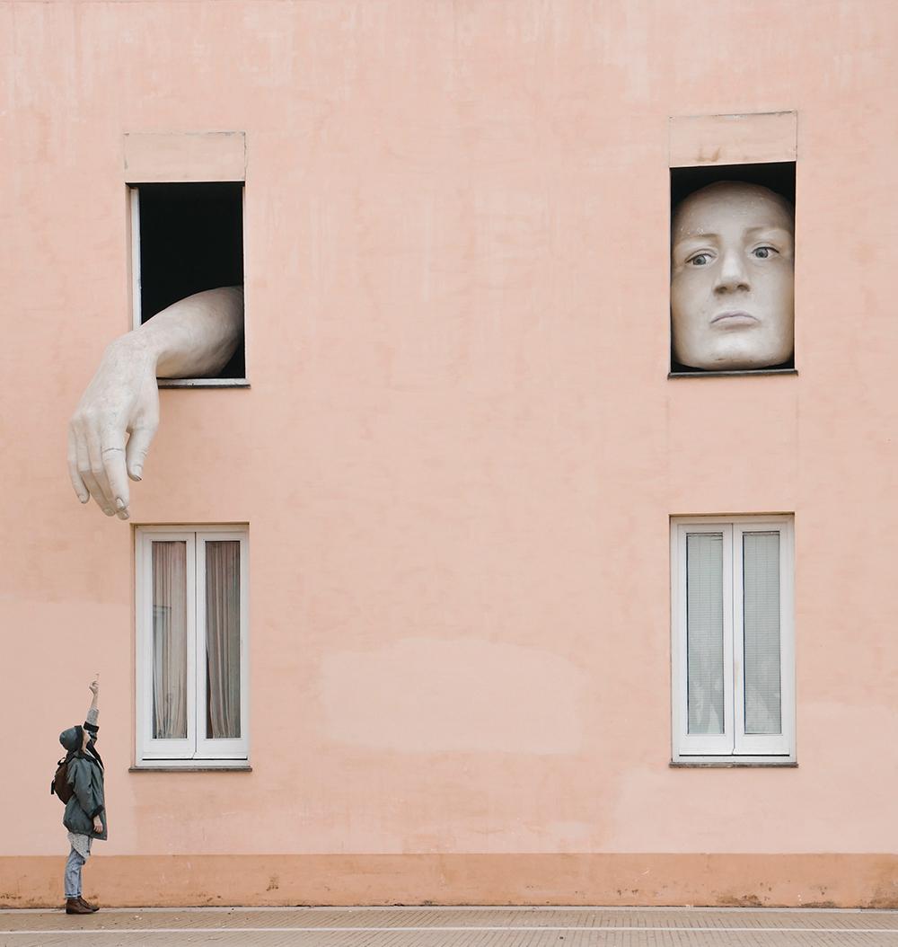 Pouliční umění v Seville.