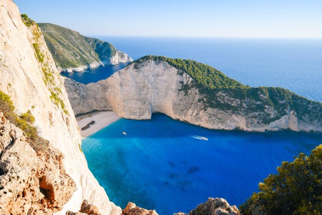 Navagio v Řecku, pláž Zakynthos