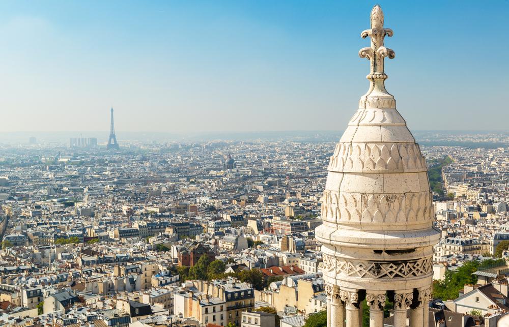 Pohled z kopce Montmartre
