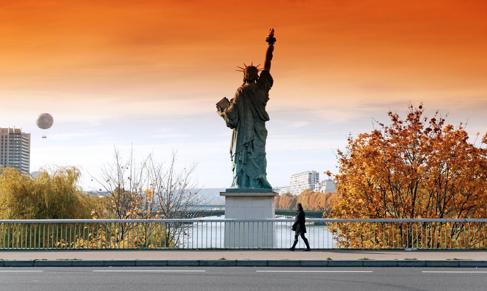 Socha Svobody v Paříži