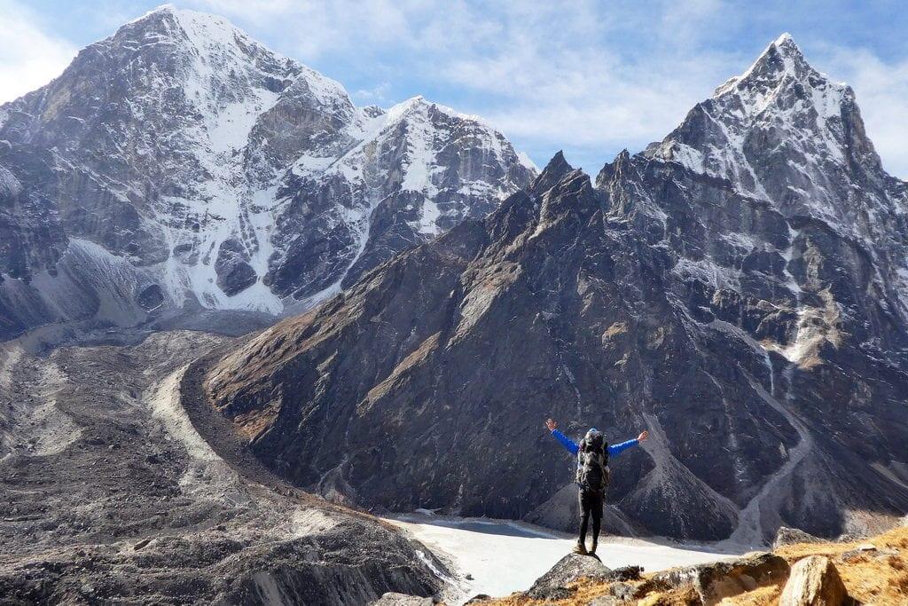 Pohled na himálajské velikány v Nepálu