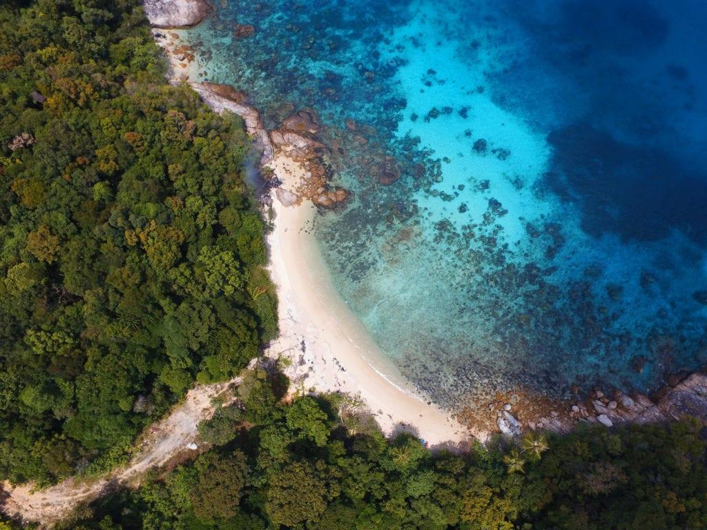 Perhentianské ostrovy na východě Malajsie