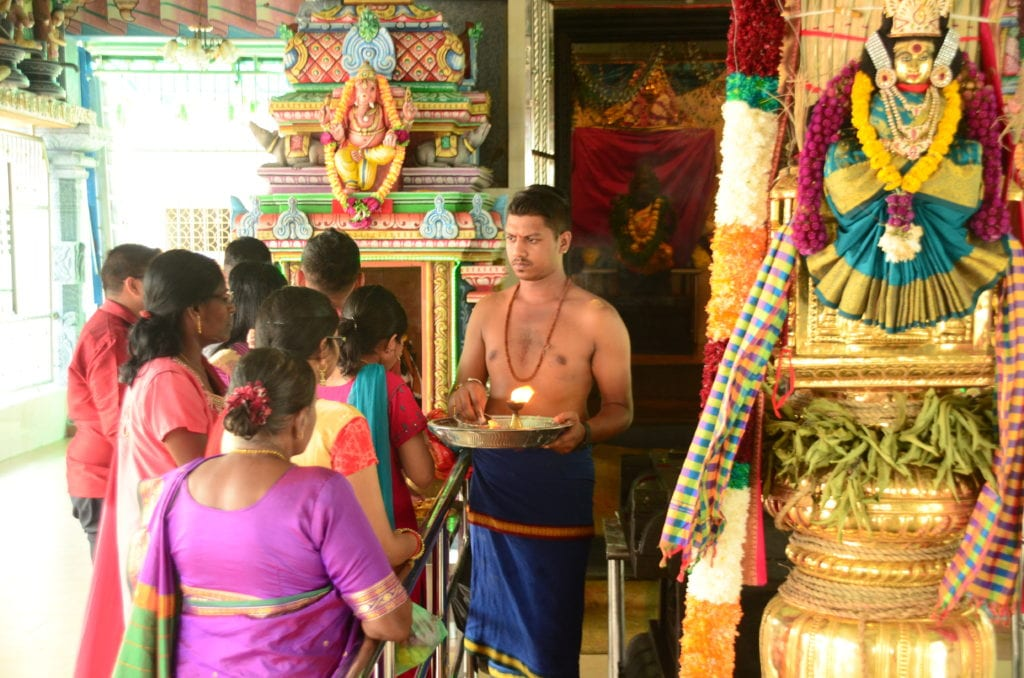 Hinduistická oslava v Penangu