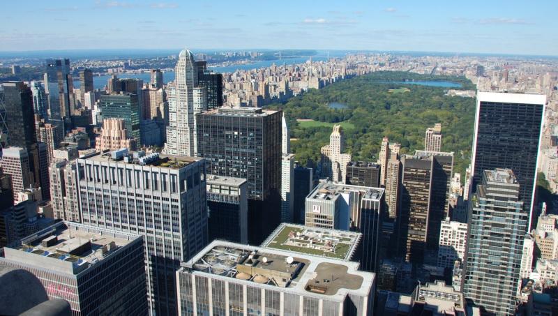Výhled na Central Park z Rockefellerova Centra