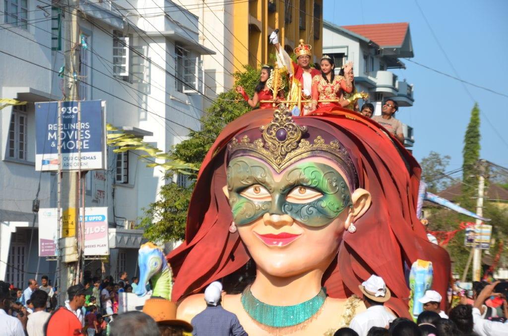 Indický karneval ve městě Goa