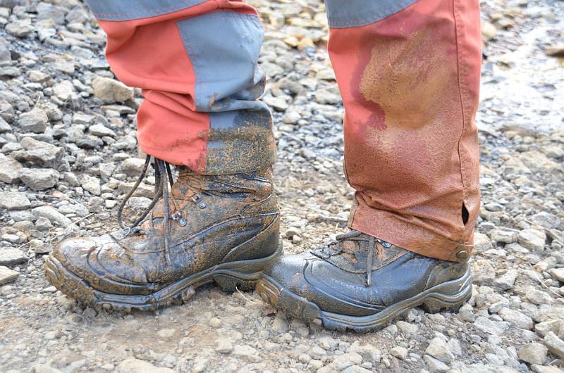 Nepromokavé boty jsou v islandské divočině základ!