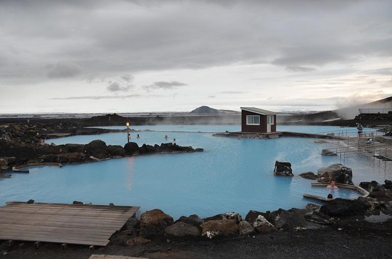 Termání bazénky u jezera Mývatn