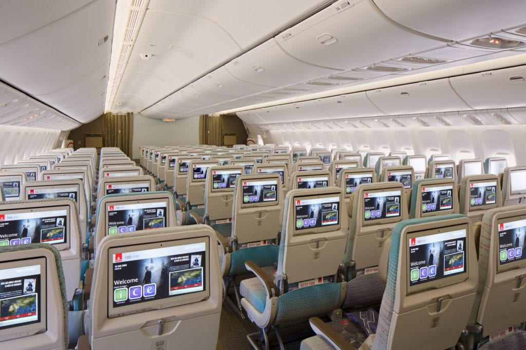 Economy class Emirates