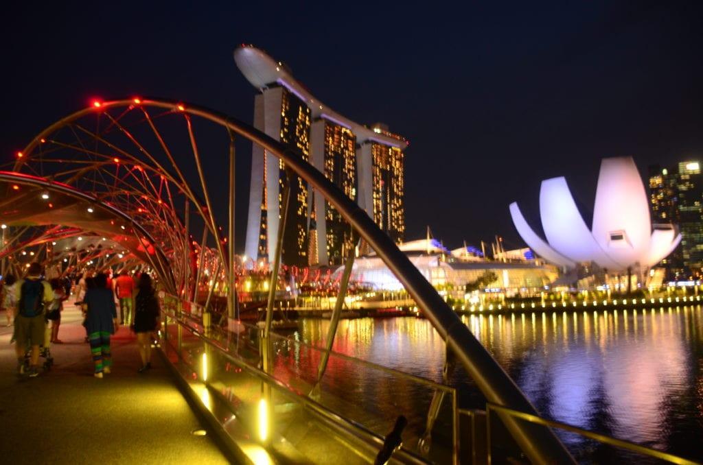 Zátoka Marina Bay v Singapuru