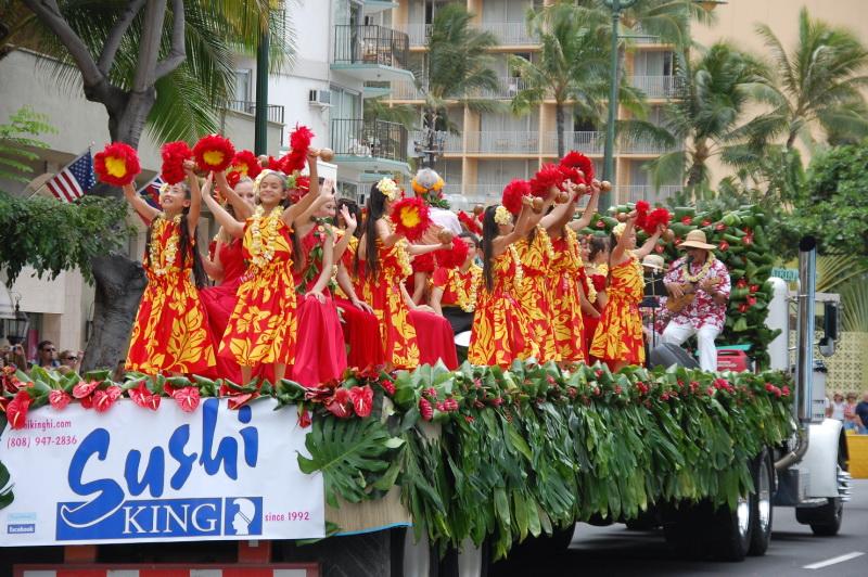 Tradiční havajské květiny a tance