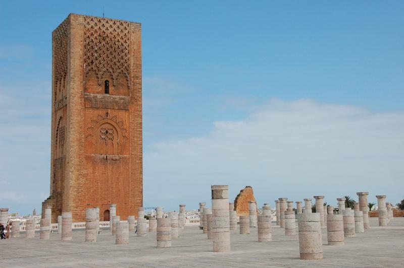 Hassanova věž v hlavním městě Rabat