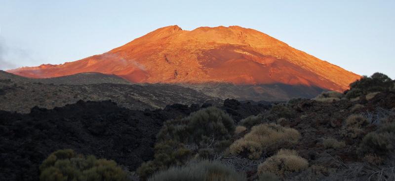 Západ slunce nad sopkou Pico Viejo