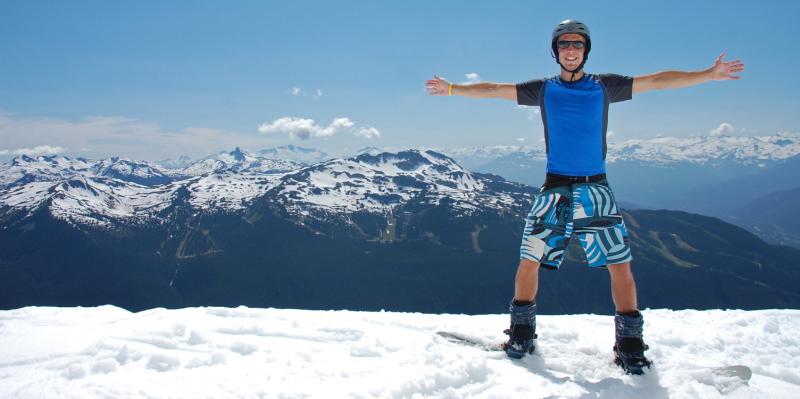 V Kanadě na snowboard i v létě!
