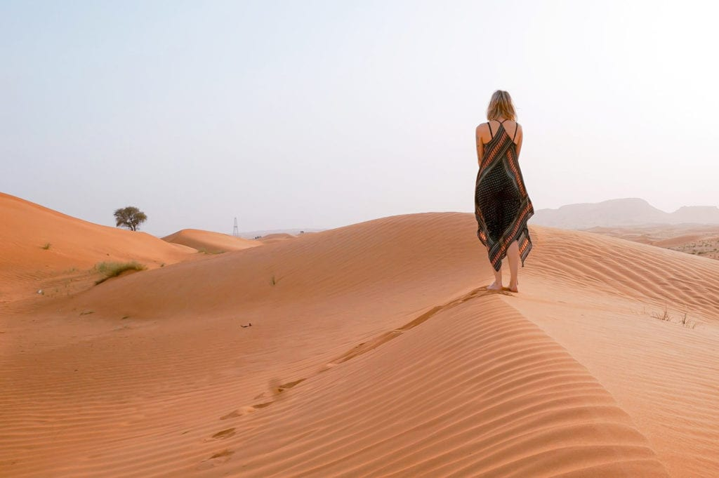 Písečné duny v Maroku