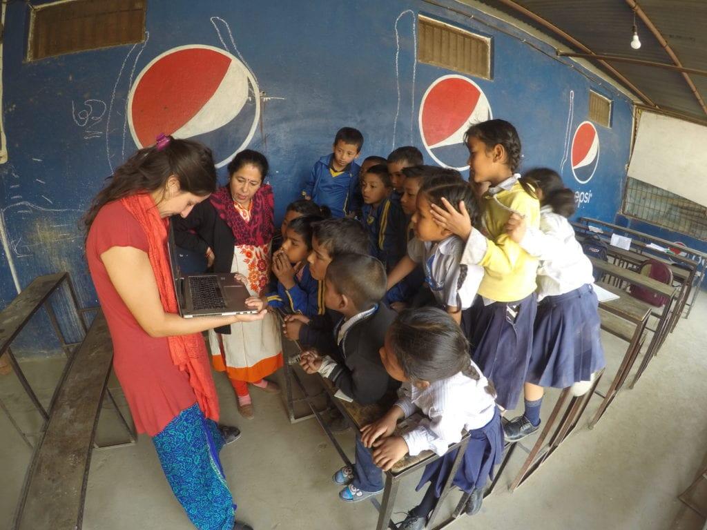 Škola v Káthmándú po zemětřesení