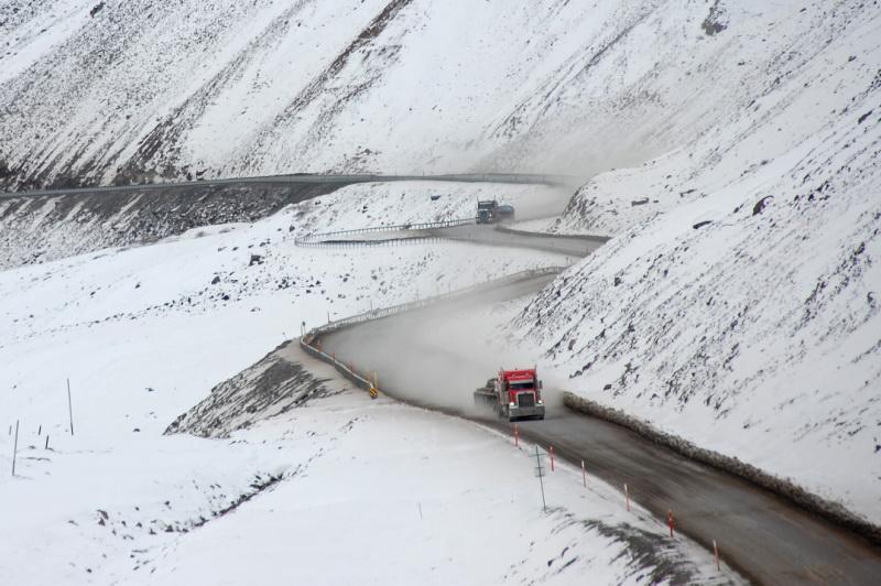 Od konce září už může na Yukonu padat sníh