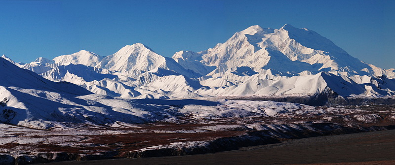 Národní park Denali a stejnojmenná nejvyšší hora USA