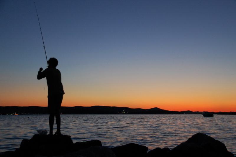 Kluk rybaří na ostrově Dugi Otok