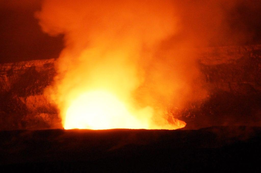 Nejaktivnější kráter Kilauea na Havaji
