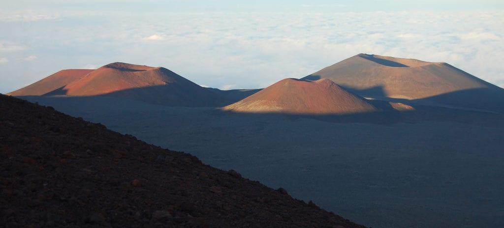 Sopky v národním parku Hawaii Volcanoes