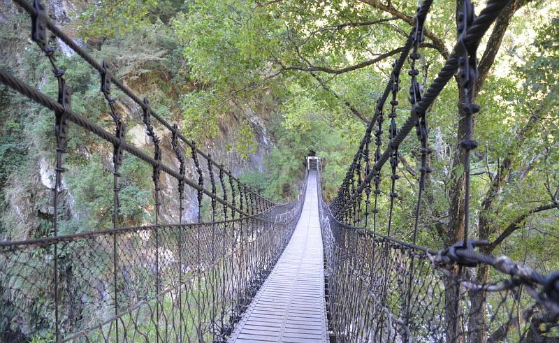 Národní park je plný visutých mostů a krásných treků