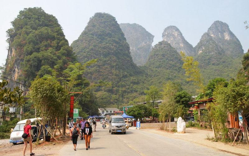 Zelené kopce u Yangshuo