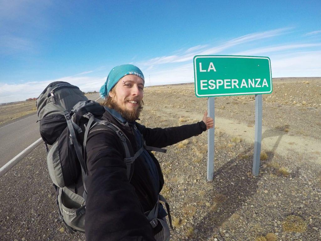 Stopování v Patagonii nebylo vždy nejlehčí