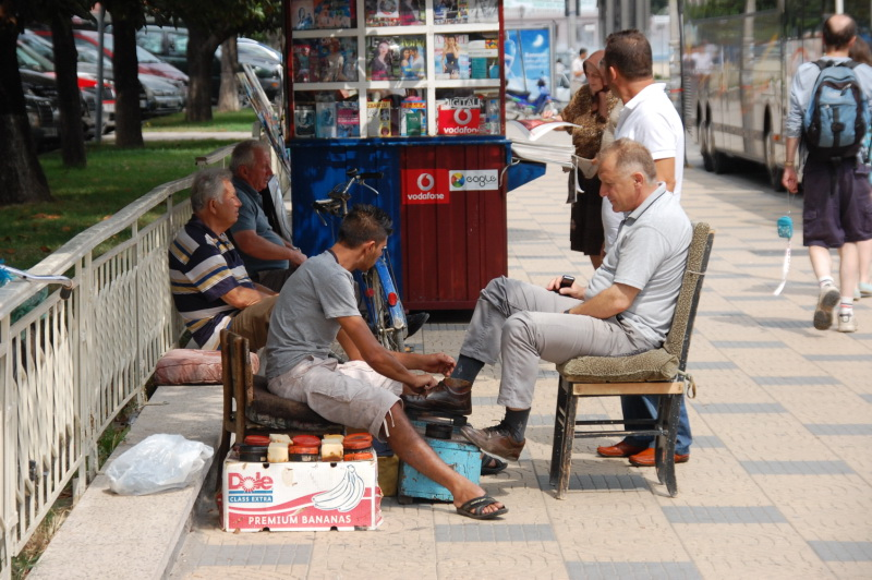 Albánie ulice