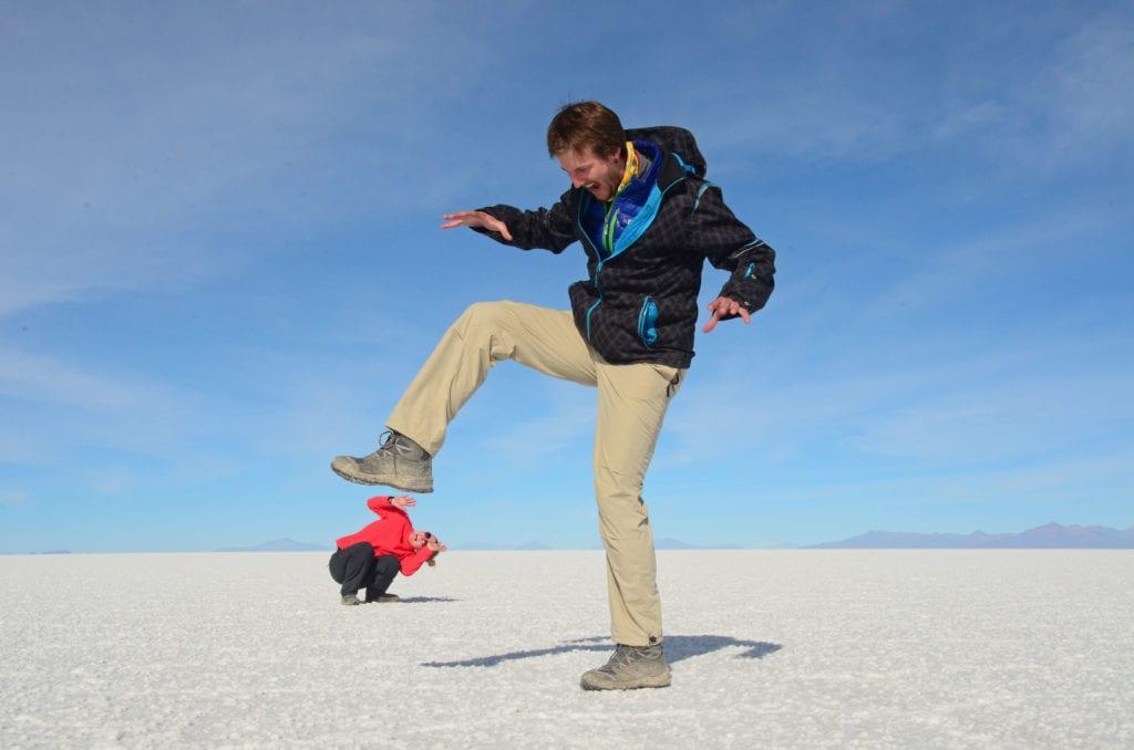 Salar de Uyuni v Bolívii