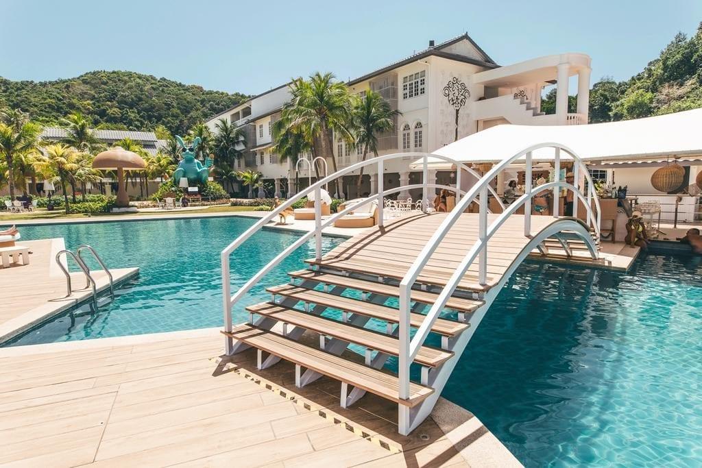 Areál hotelu Dash Resort Langkawi.