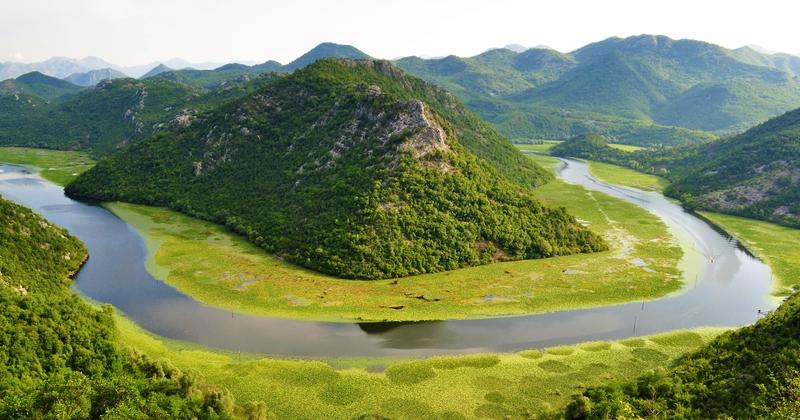 Přírodní scenérie u jezera Skadar