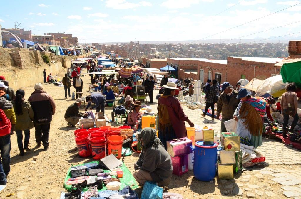Na tomto trhu v La Pazu mi ukradli mobil
