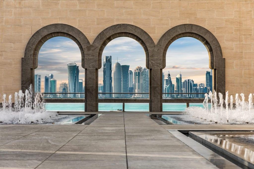 Pohled na panorama Dauhá.