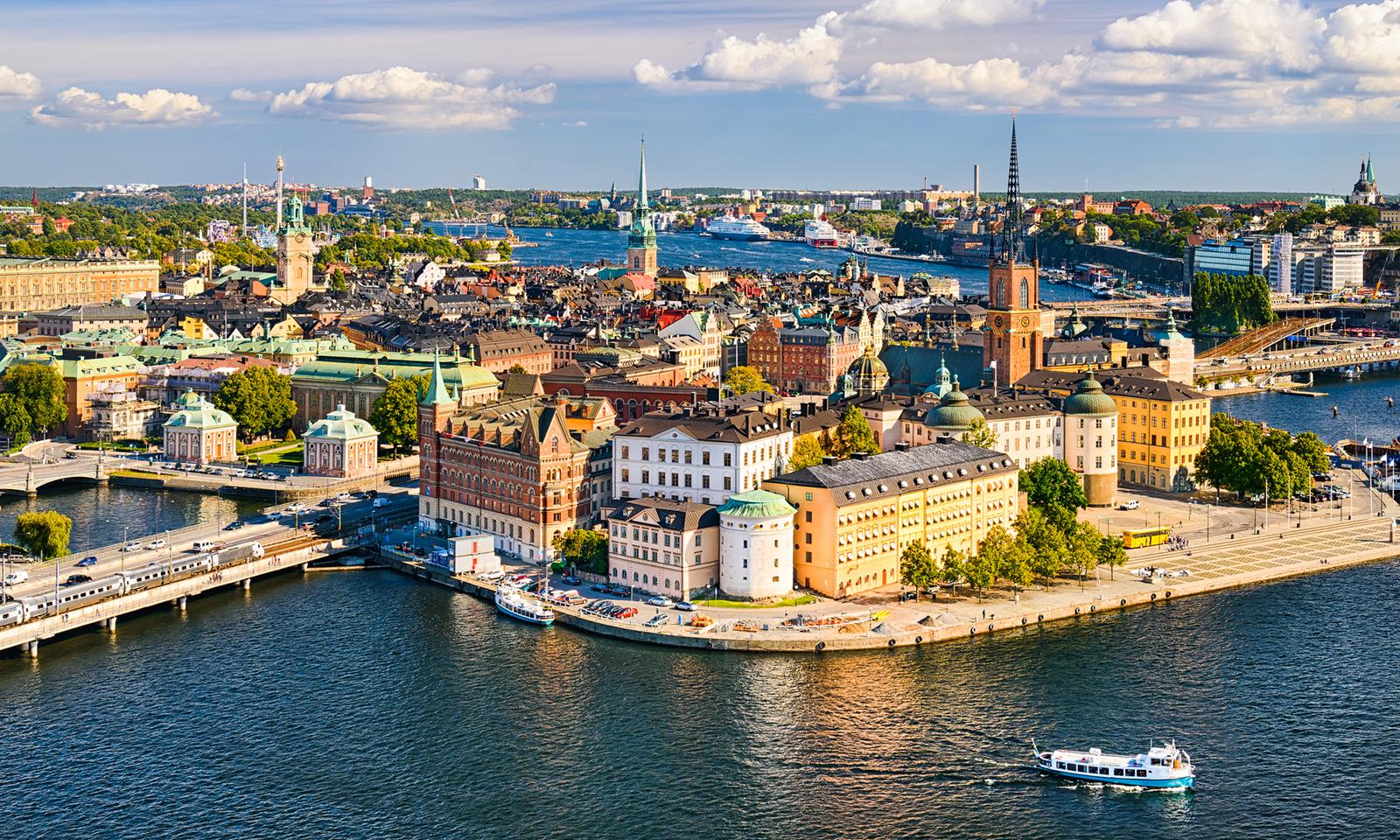 Stockholm v létě.