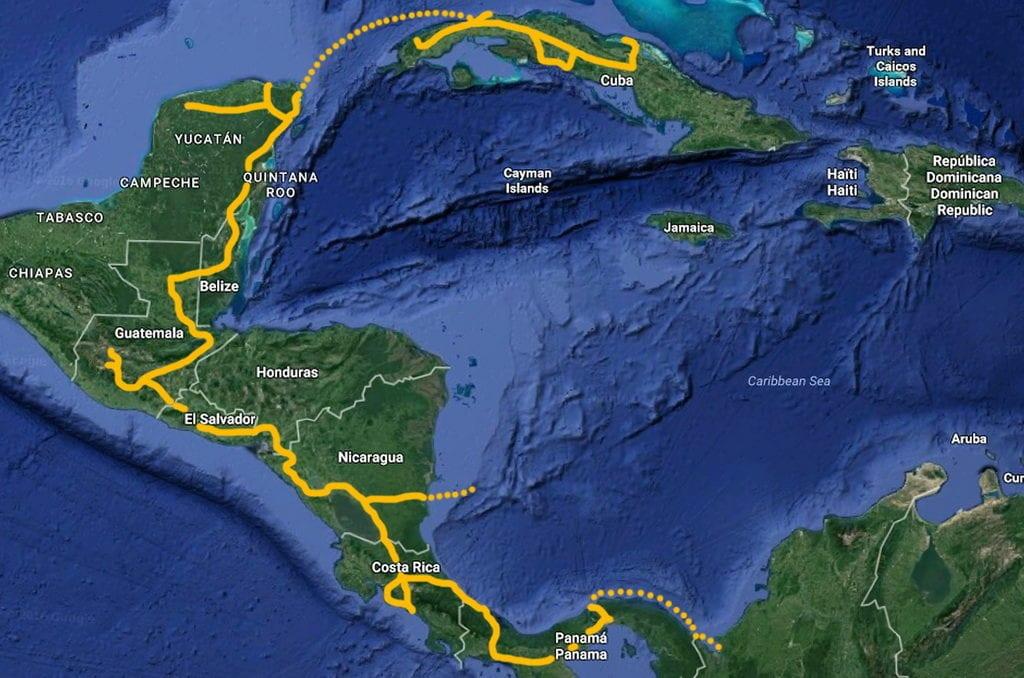 Podívej se, jak jsme projeli Střední Ameriku