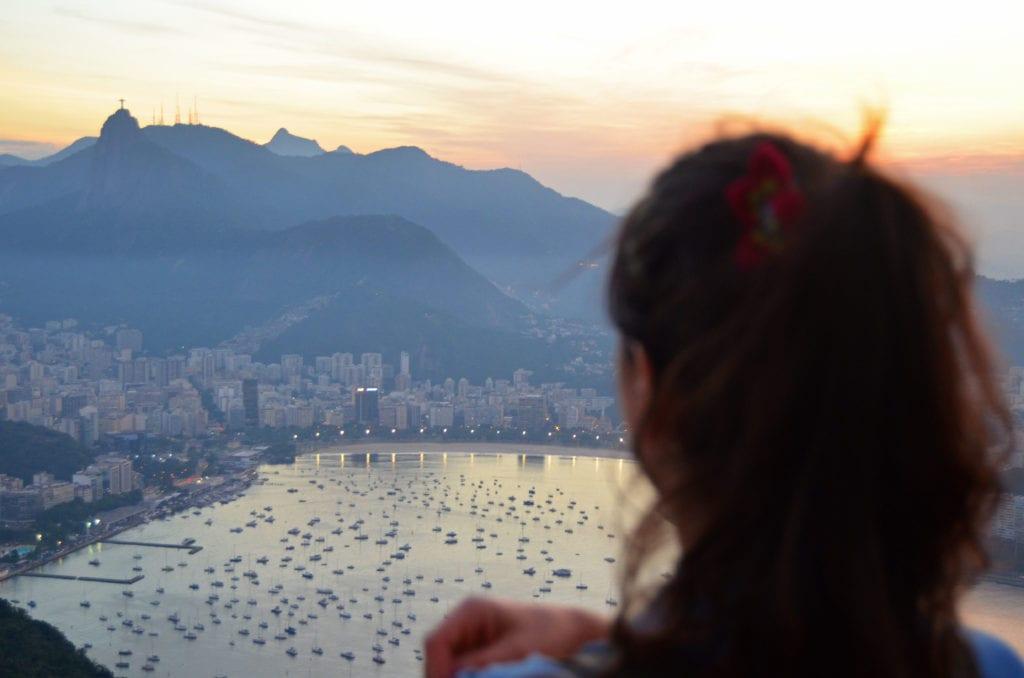 Rio de Janiero a západ slunce
